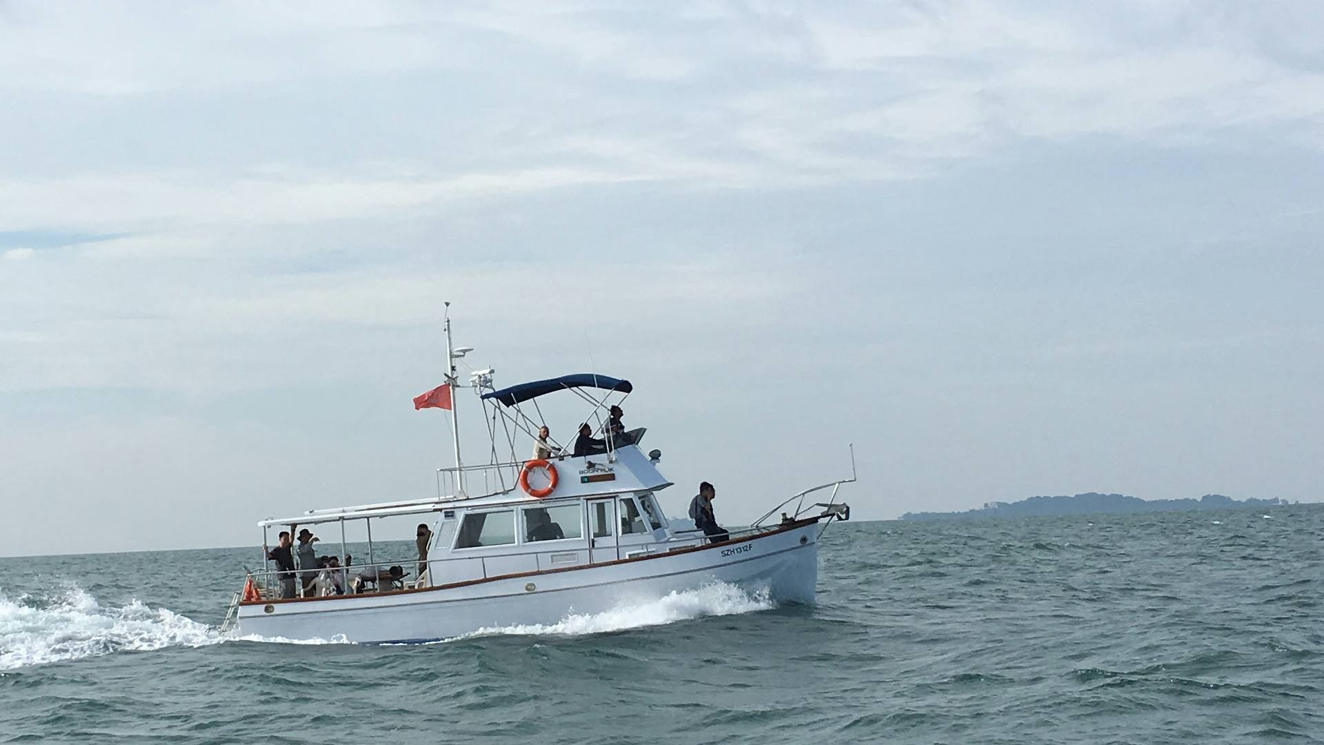 """The lead boat, """"Boon Teik"""". Photo courtesy of KC Ling."""